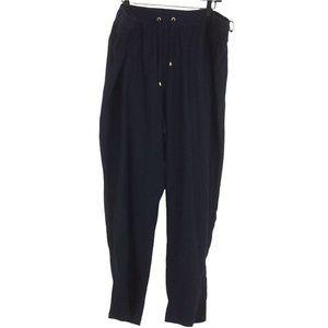 Tommy Hilfiger Navy Blue Linen Casual Lightweight Pants Plus Size 22W